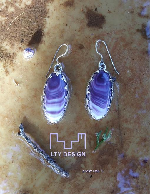 LTY Design Sterling Silver and Wampum shell